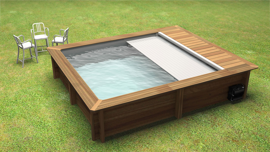 urban pool 4 2 x 3 5 dybde 1 33 m med lamelltrekk. Black Bedroom Furniture Sets. Home Design Ideas