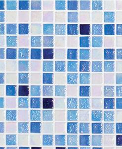 Fliser, Fading Outs ROCK bassengfliser blå hvit lysblå mørkeblå